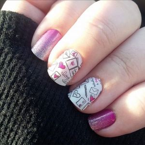 NWT Jamberry Love Letters Nail Wrap 💌